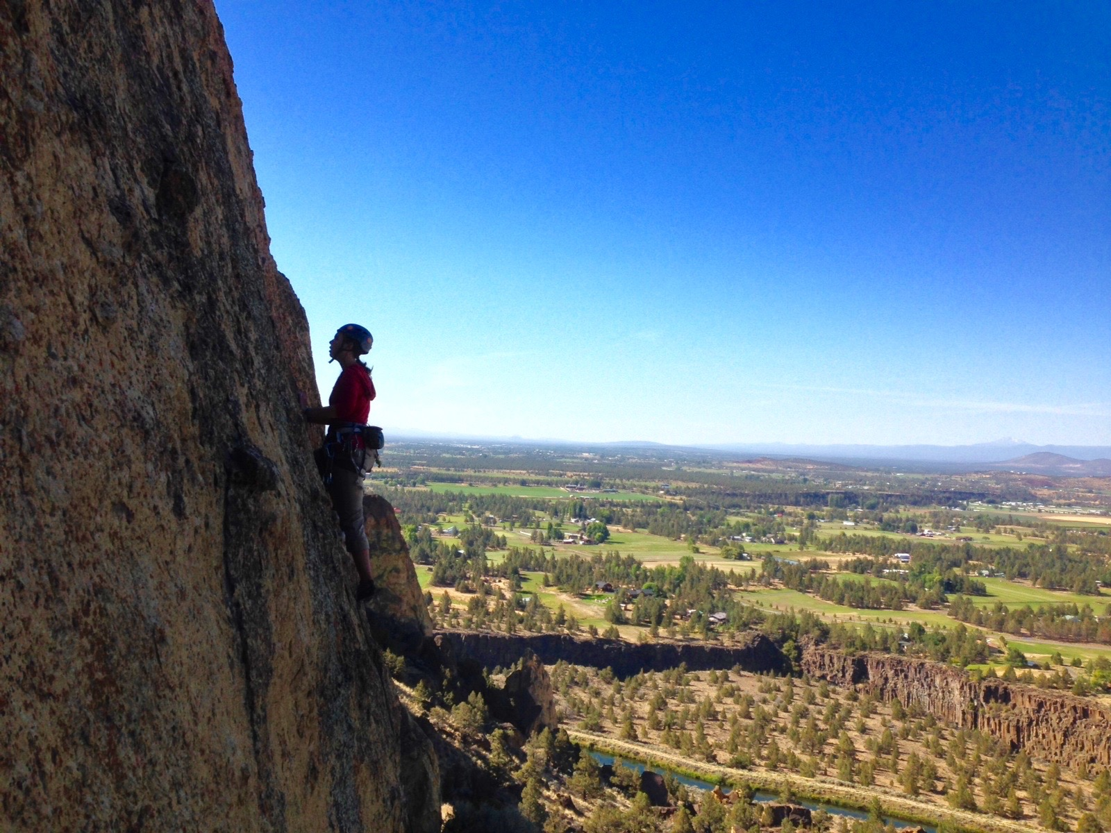 Walker climbing at Smith Rock State Park, Oregon.
